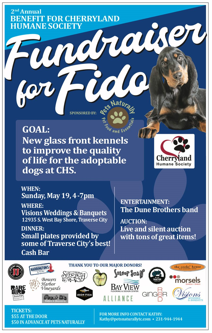 Major Donors Fundraiser for Fido May 19th, 2019