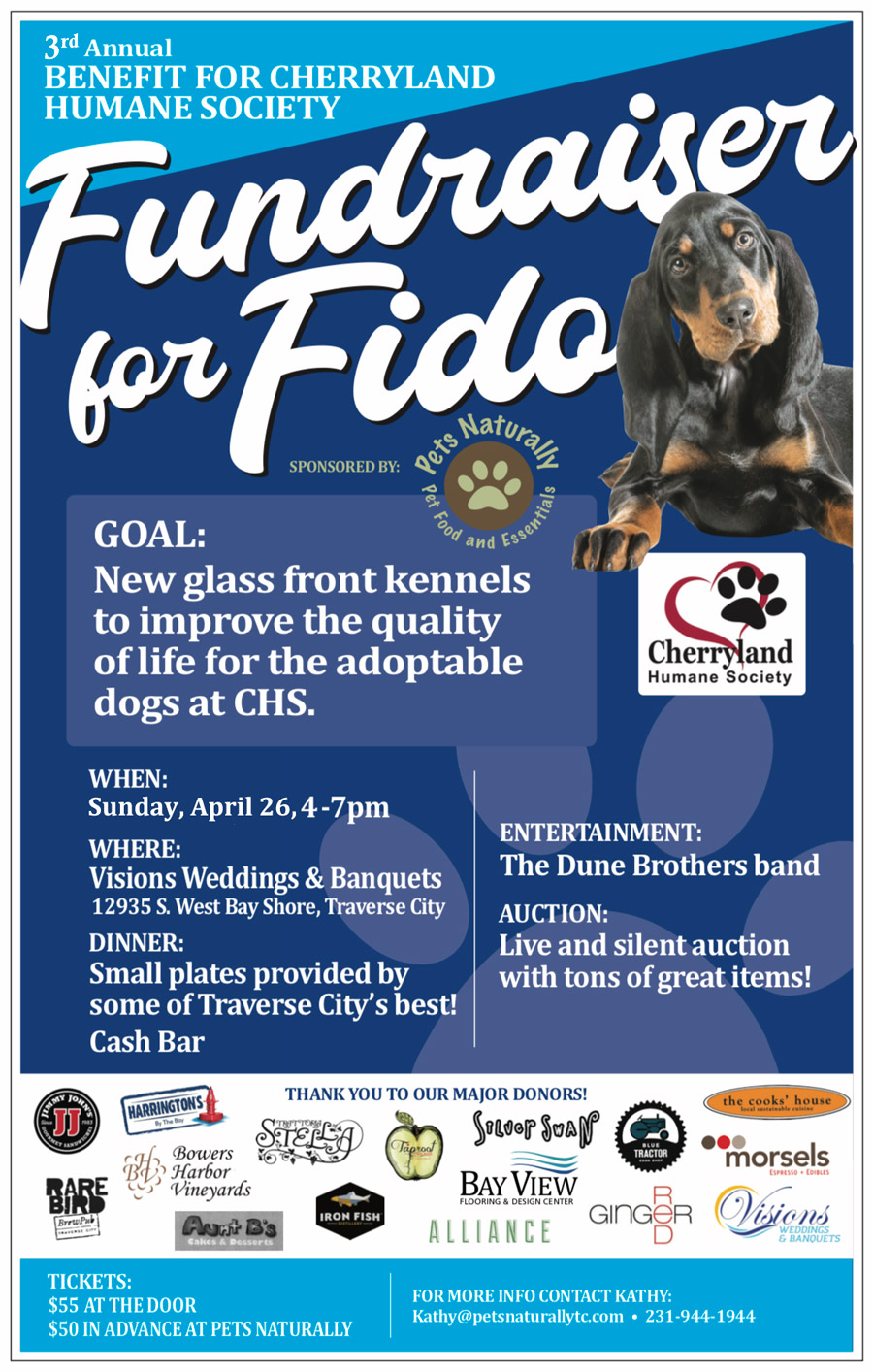 Major Donors Fundraiser for Fido April 26th, 2020